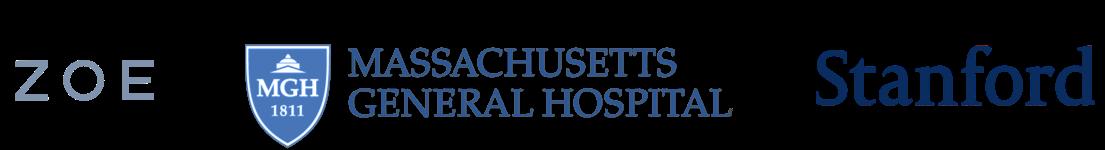 Brand Logos - Zoe, Massachusetts General Hospital and Stanford